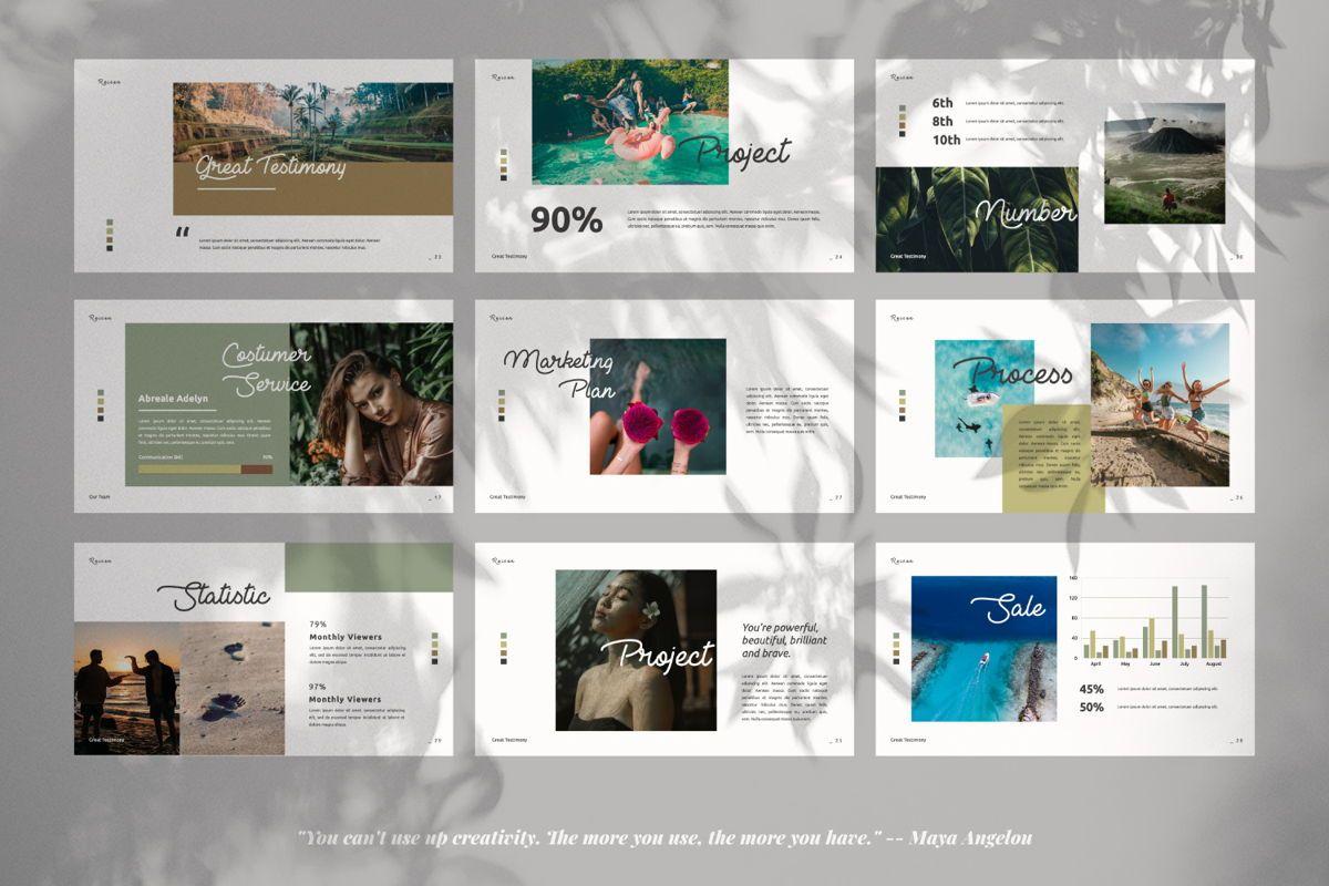 Reisen Creative Google Slide, Slide 4, 06335, Presentation Templates — PoweredTemplate.com