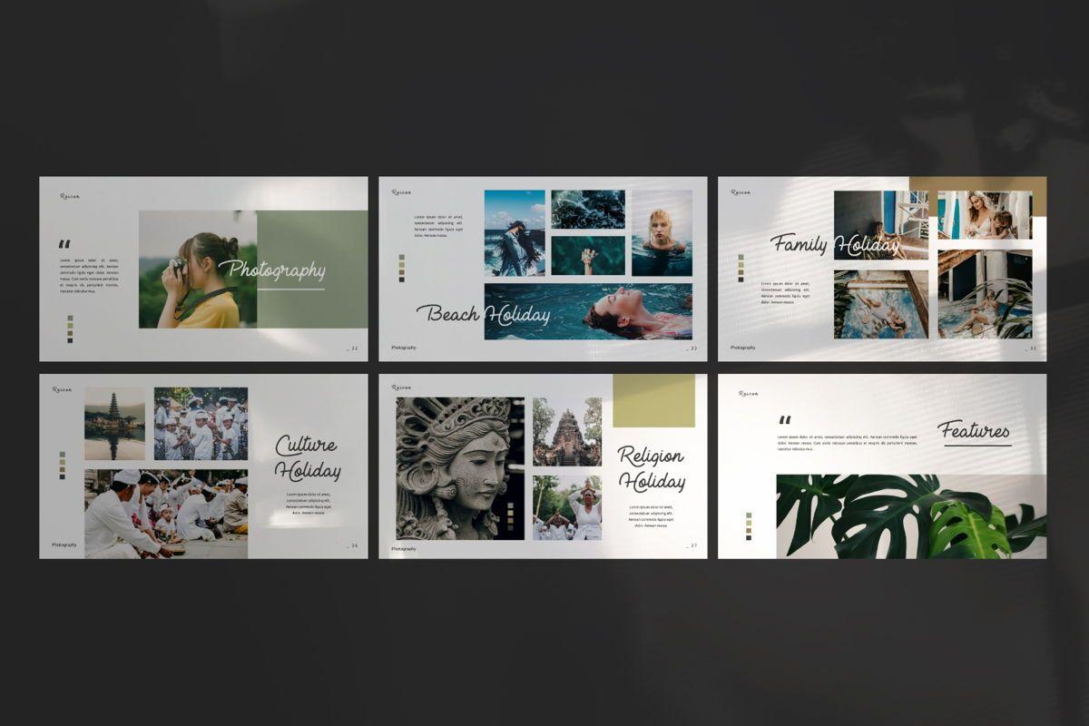 Reisen Creative Google Slide, Slide 5, 06335, Presentation Templates — PoweredTemplate.com