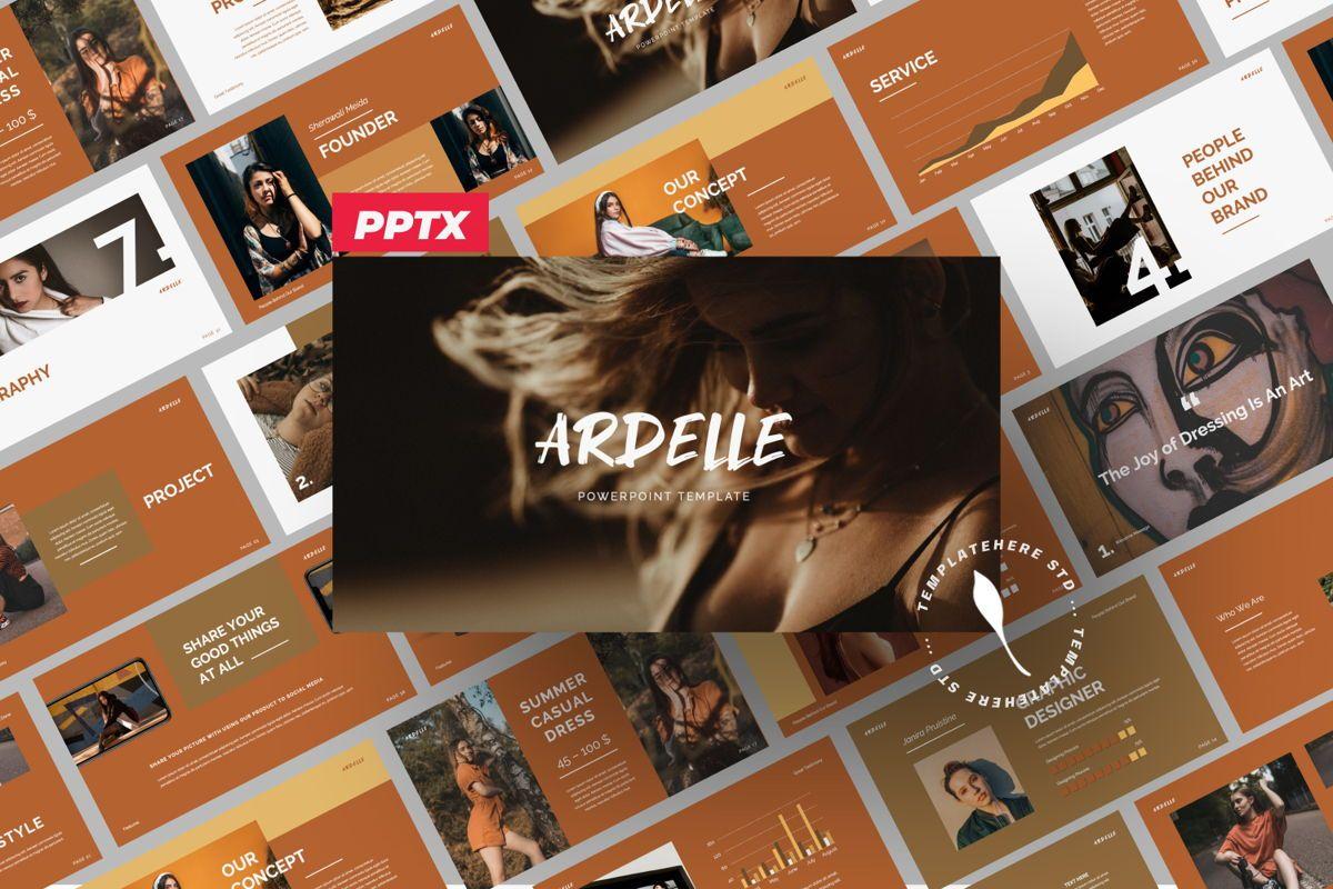 Ardelle Creative Powerpoint, 06336, Presentation Templates — PoweredTemplate.com