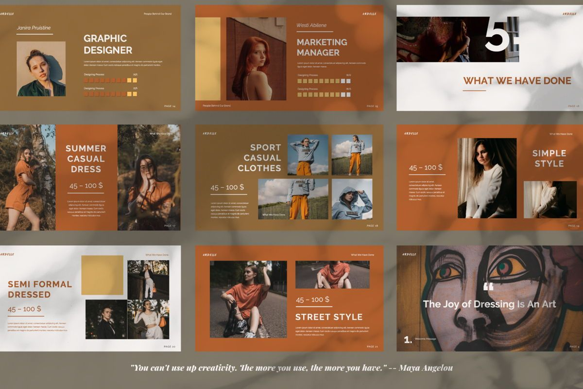 Ardelle Creative Powerpoint, Slide 2, 06336, Presentation Templates — PoweredTemplate.com