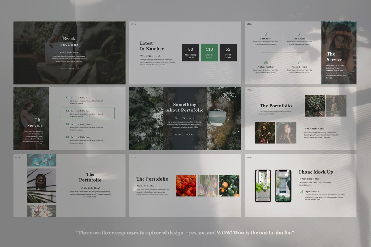 Naturalist Creative Keynote, Slide 5, 06337, Presentation Templates — PoweredTemplate.com