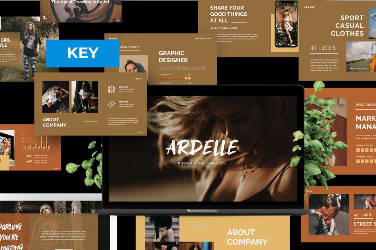 Ardelle Creative Keynote, 06338, Presentation Templates — PoweredTemplate.com