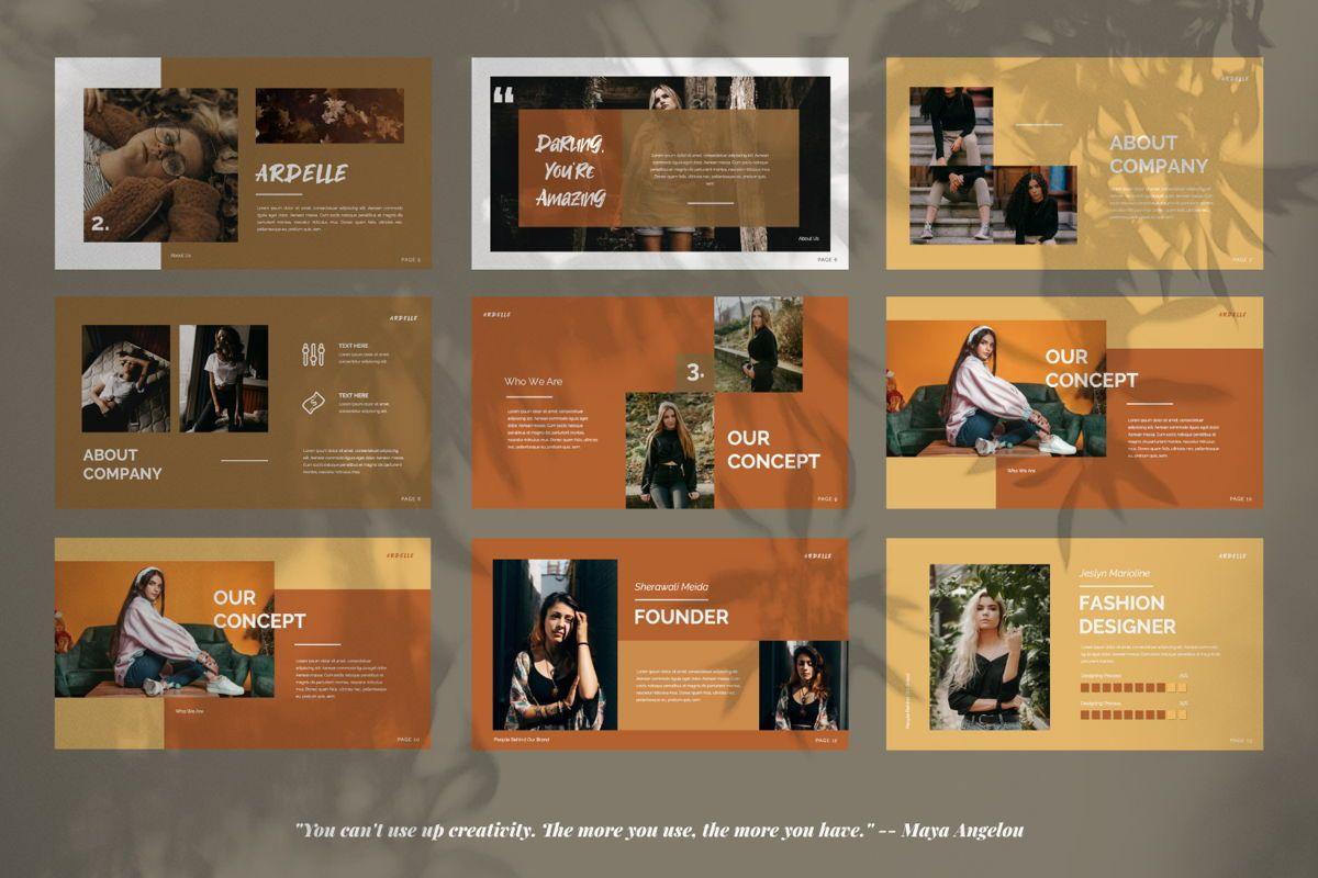 Ardelle Creative Google Slide, Slide 8, 06339, Presentation Templates — PoweredTemplate.com