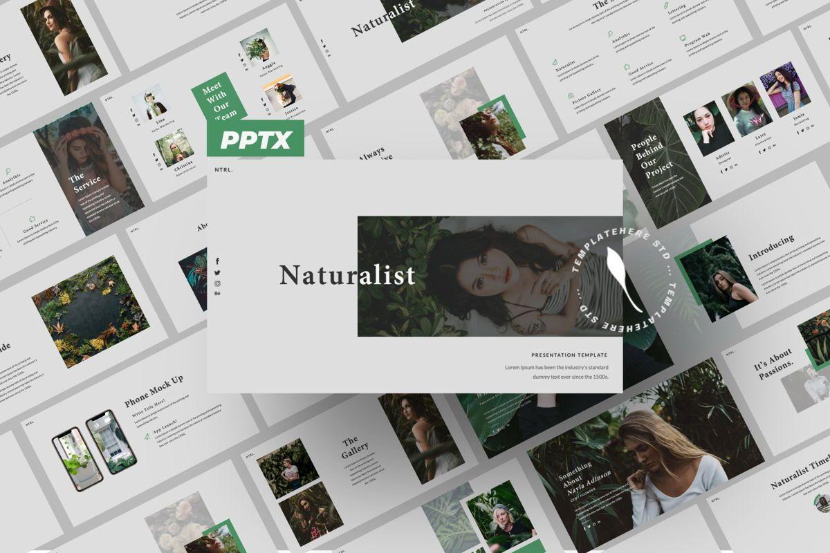 Naturalist Creative Powerpoint, 06340, Presentation Templates — PoweredTemplate.com