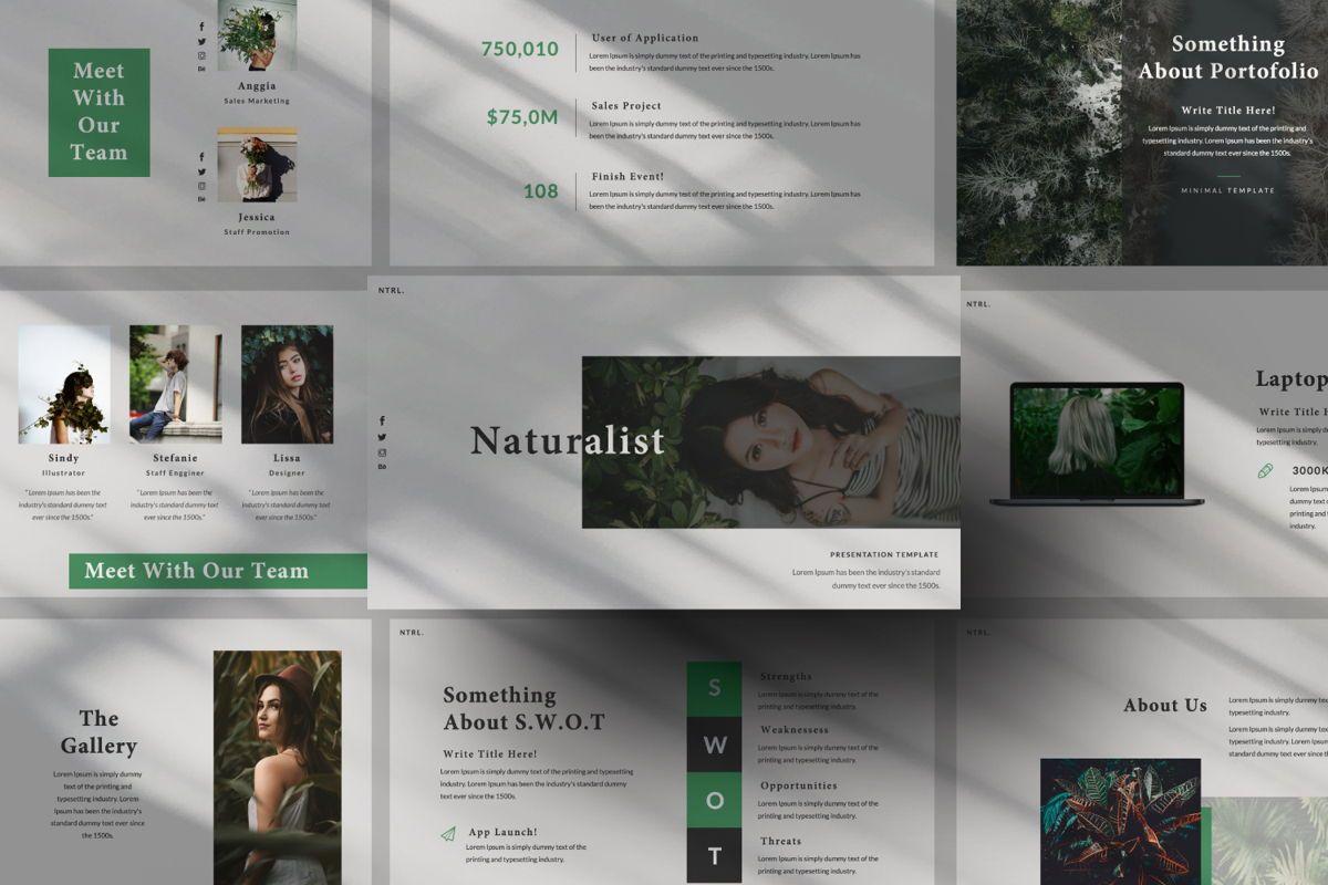 Naturalist Creative Google Slide, 06341, Presentation Templates — PoweredTemplate.com