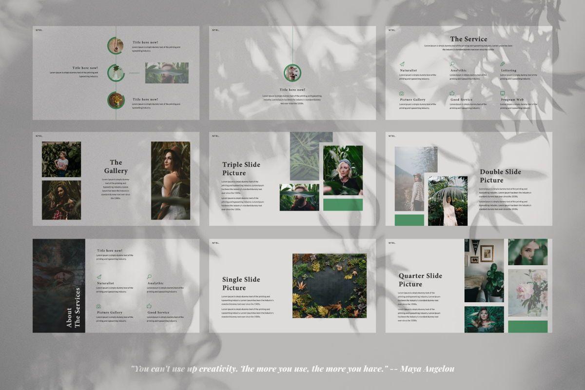 Naturalist Creative Google Slide, Slide 3, 06341, Presentation Templates — PoweredTemplate.com