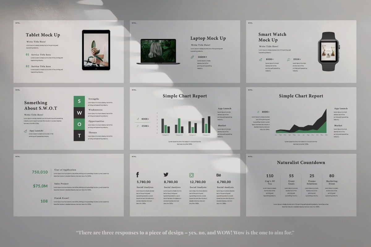 Naturalist Creative Google Slide, Slide 4, 06341, Presentation Templates — PoweredTemplate.com