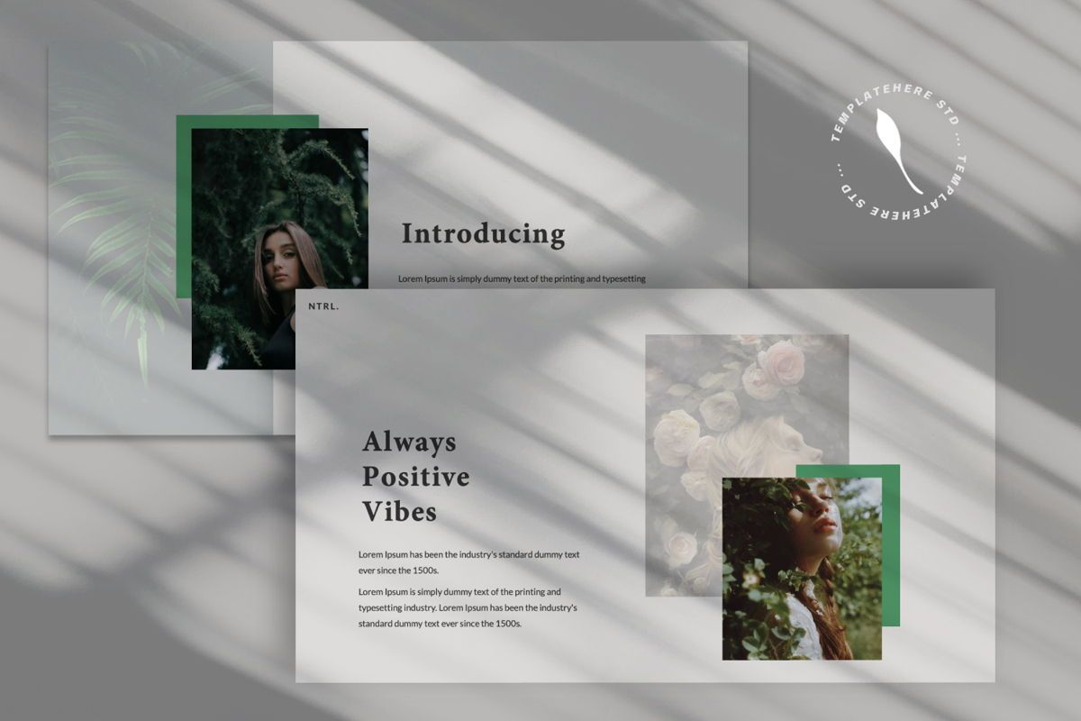 Naturalist Creative Google Slide, Slide 6, 06341, Presentation Templates — PoweredTemplate.com