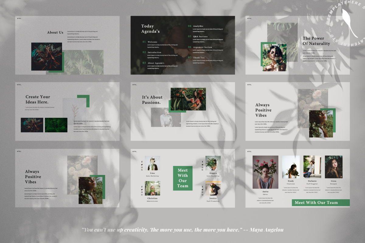 Naturalist Creative Google Slide, Slide 7, 06341, Presentation Templates — PoweredTemplate.com
