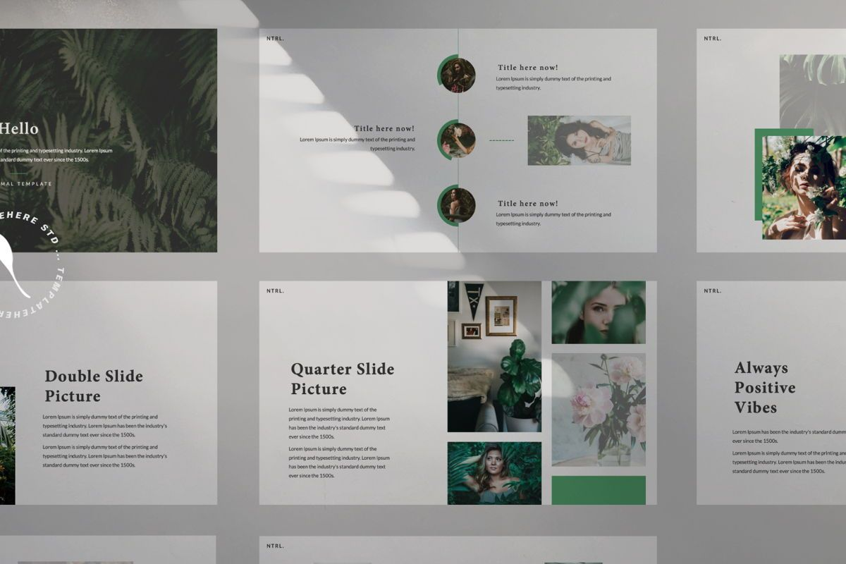 Naturalist Creative Google Slide, Slide 8, 06341, Presentation Templates — PoweredTemplate.com
