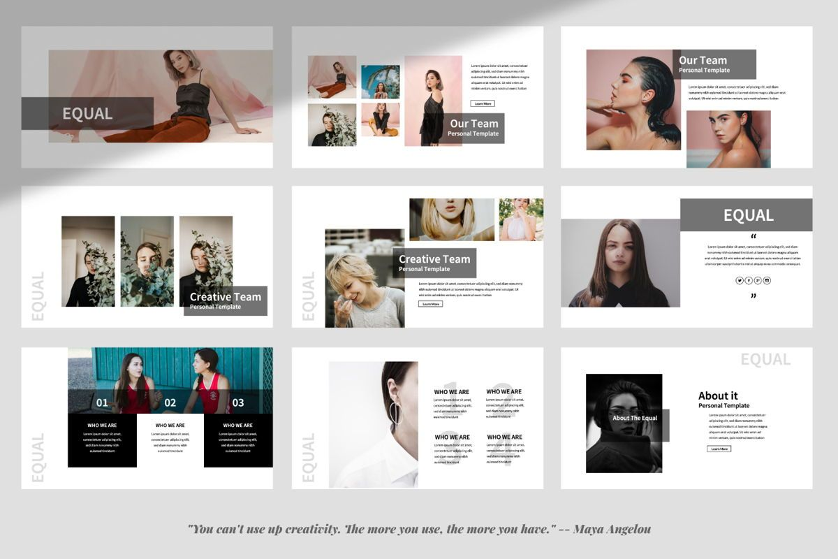 Equal Creative Powerpoint, Slide 3, 06342, Presentation Templates — PoweredTemplate.com