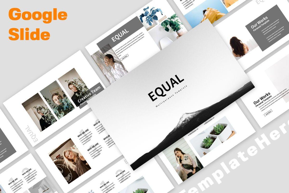 Equal Creative Google Slide, 06343, Presentation Templates — PoweredTemplate.com