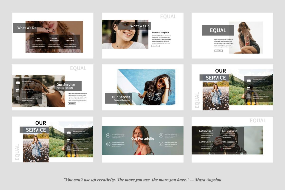 Equal Creative Google Slide, Slide 2, 06343, Presentation Templates — PoweredTemplate.com