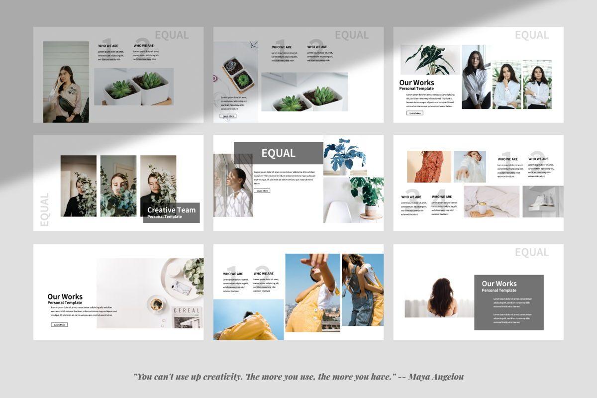 Equal Creative Google Slide, Slide 4, 06343, Presentation Templates — PoweredTemplate.com