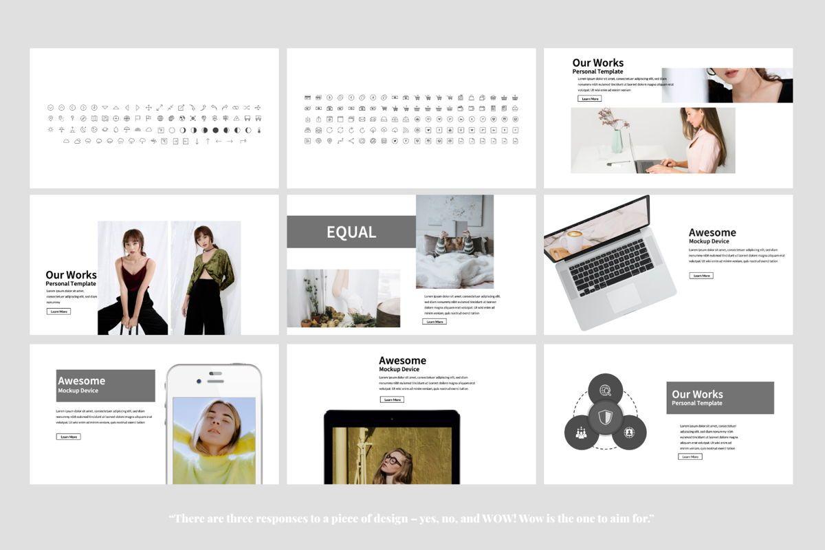 Equal Creative Google Slide, Slide 6, 06343, Presentation Templates — PoweredTemplate.com