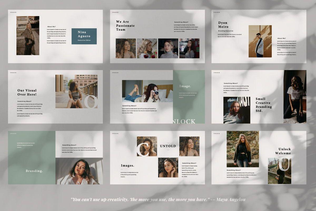 Unlock Creative Google Slide, Slide 3, 06344, Presentation Templates — PoweredTemplate.com