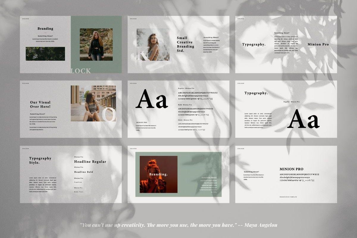 Unlock Creative Google Slide, Slide 4, 06344, Presentation Templates — PoweredTemplate.com