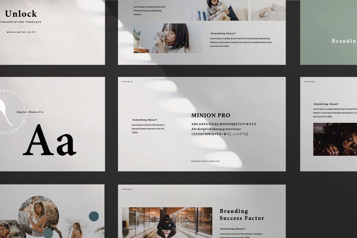 Unlock Creative Google Slide, Slide 6, 06344, Presentation Templates — PoweredTemplate.com