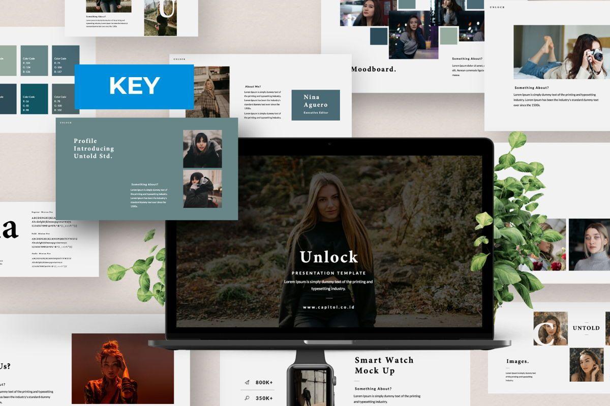 Unlock Creative Keynote, 06346, Presentation Templates — PoweredTemplate.com