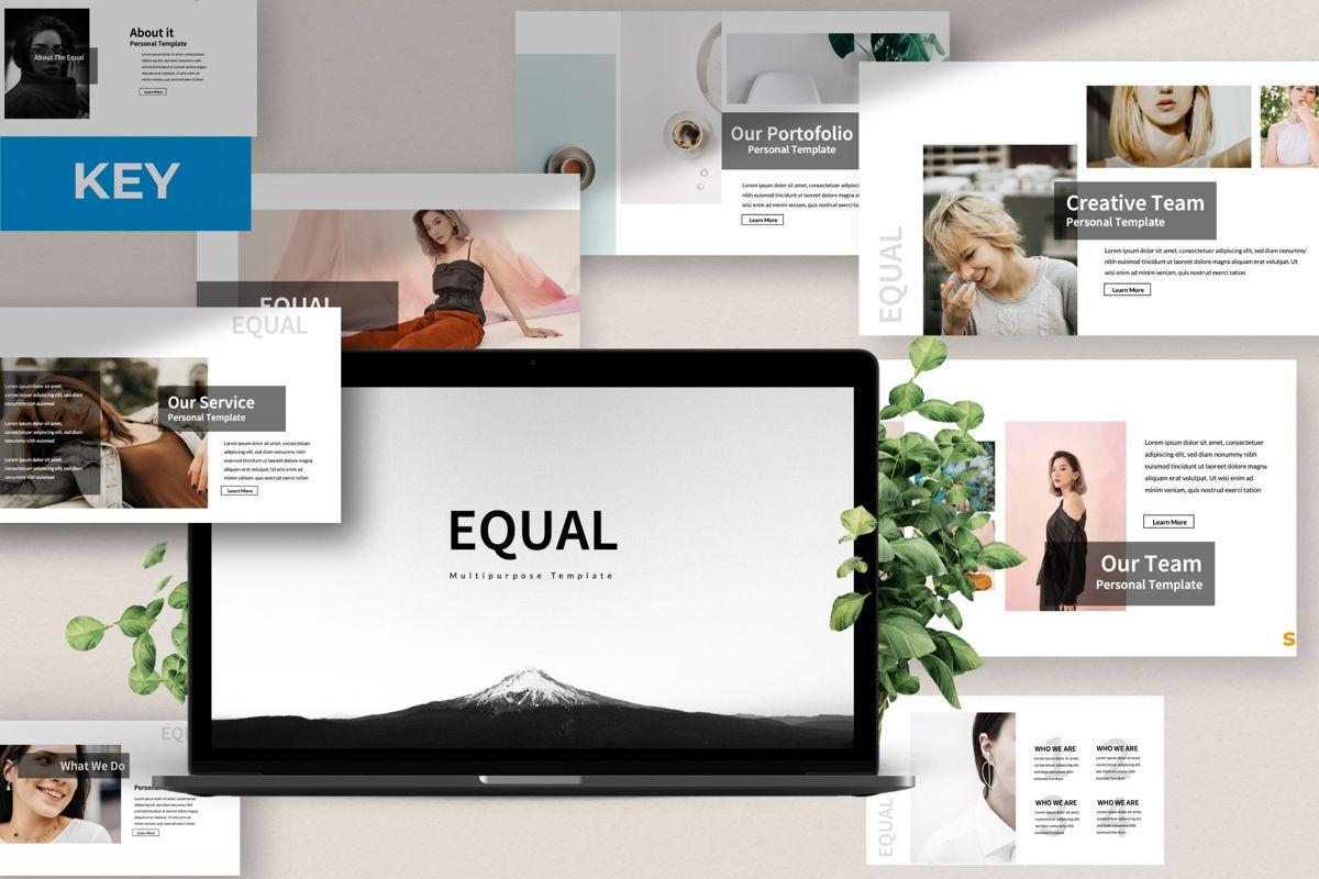 Equal Creative Keynote, 06347, Presentation Templates — PoweredTemplate.com