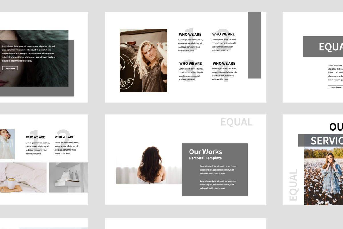Equal Creative Keynote, Slide 8, 06347, Presentation Templates — PoweredTemplate.com