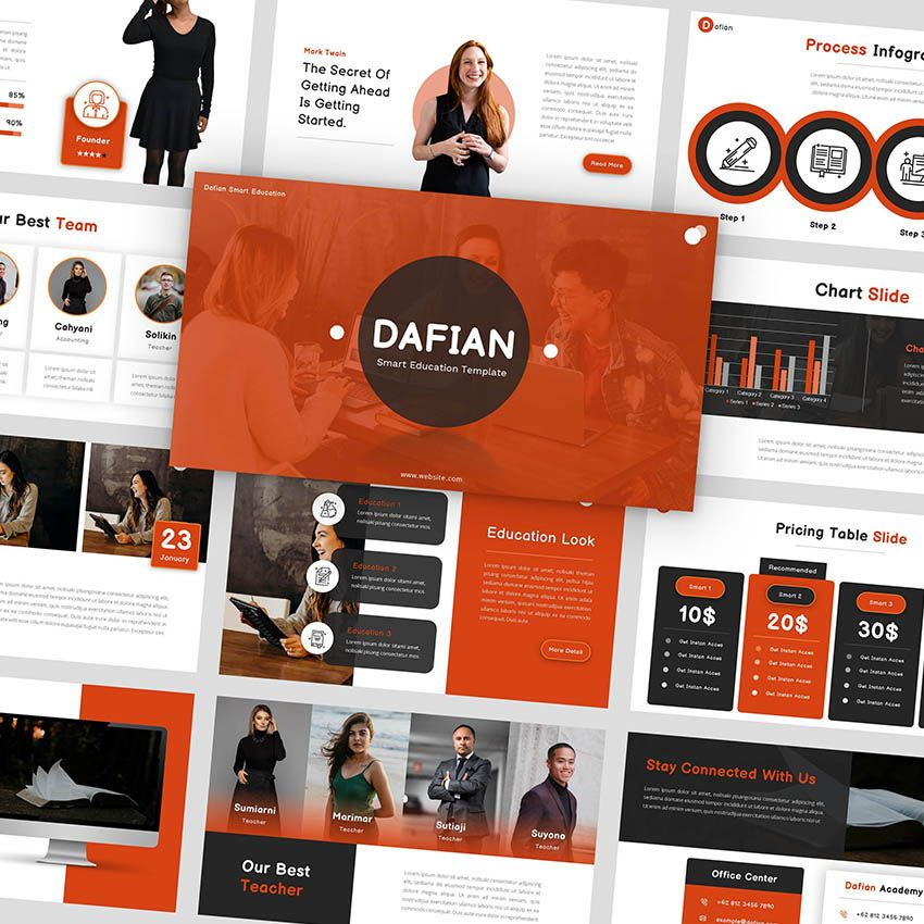 Dafian - PowerPoint Presentation Template, 06352, Presentation Templates — PoweredTemplate.com