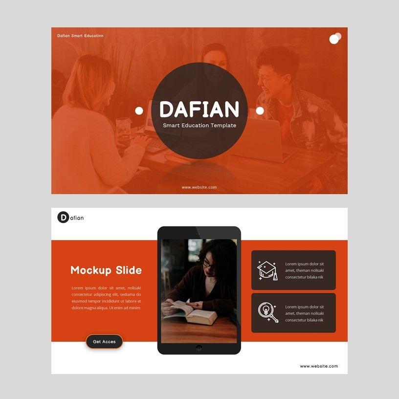 Dafian - PowerPoint Presentation Template, Slide 10, 06352, Presentation Templates — PoweredTemplate.com