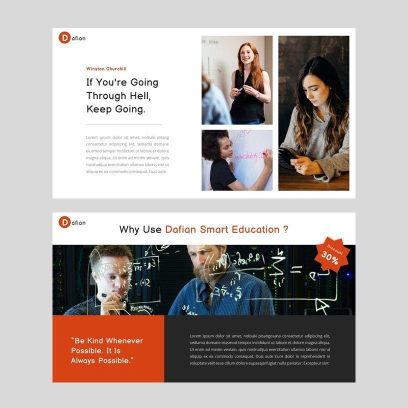 Dafian - PowerPoint Presentation Template, Slide 11, 06352, Presentation Templates — PoweredTemplate.com