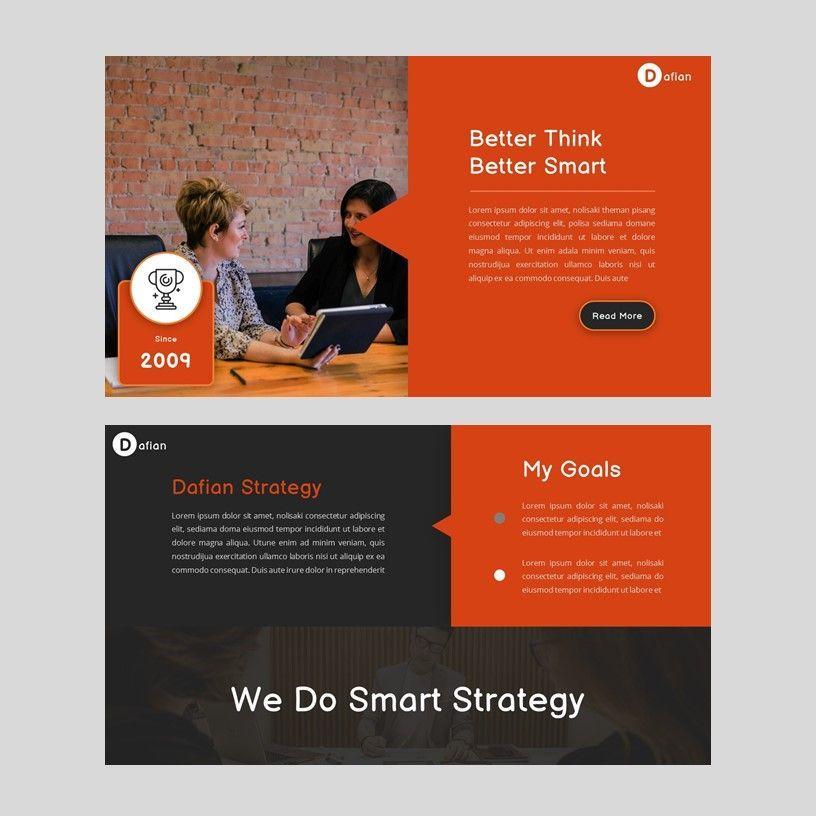 Dafian - PowerPoint Presentation Template, Slide 3, 06352, Presentation Templates — PoweredTemplate.com