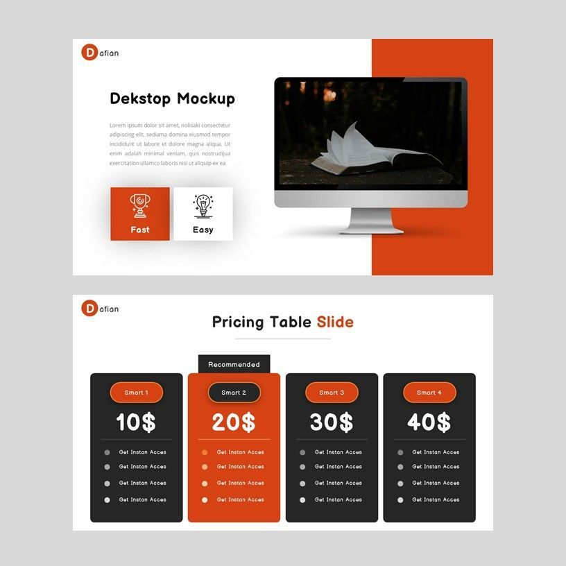 Dafian - PowerPoint Presentation Template, Slide 7, 06352, Presentation Templates — PoweredTemplate.com
