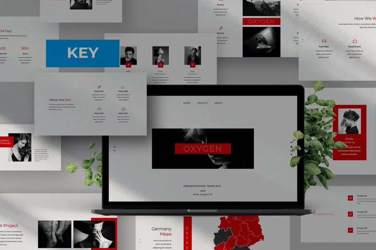 Oxygen Creative Keynote, 06354, Presentation Templates — PoweredTemplate.com