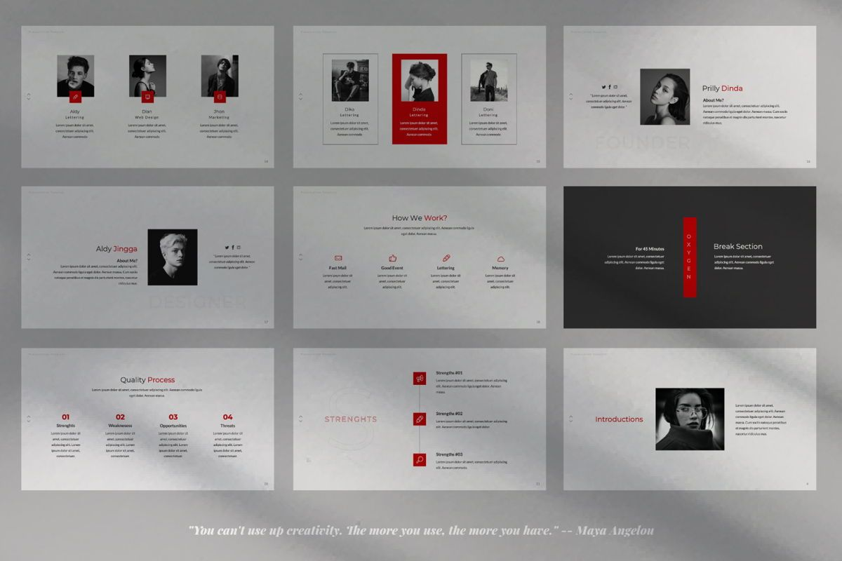 Oxygen Creative Keynote, Slide 3, 06354, Presentation Templates — PoweredTemplate.com