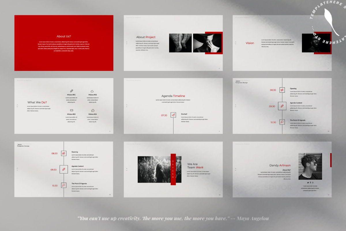 Oxygen Creative Google Slide, Slide 2, 06355, Presentation Templates — PoweredTemplate.com