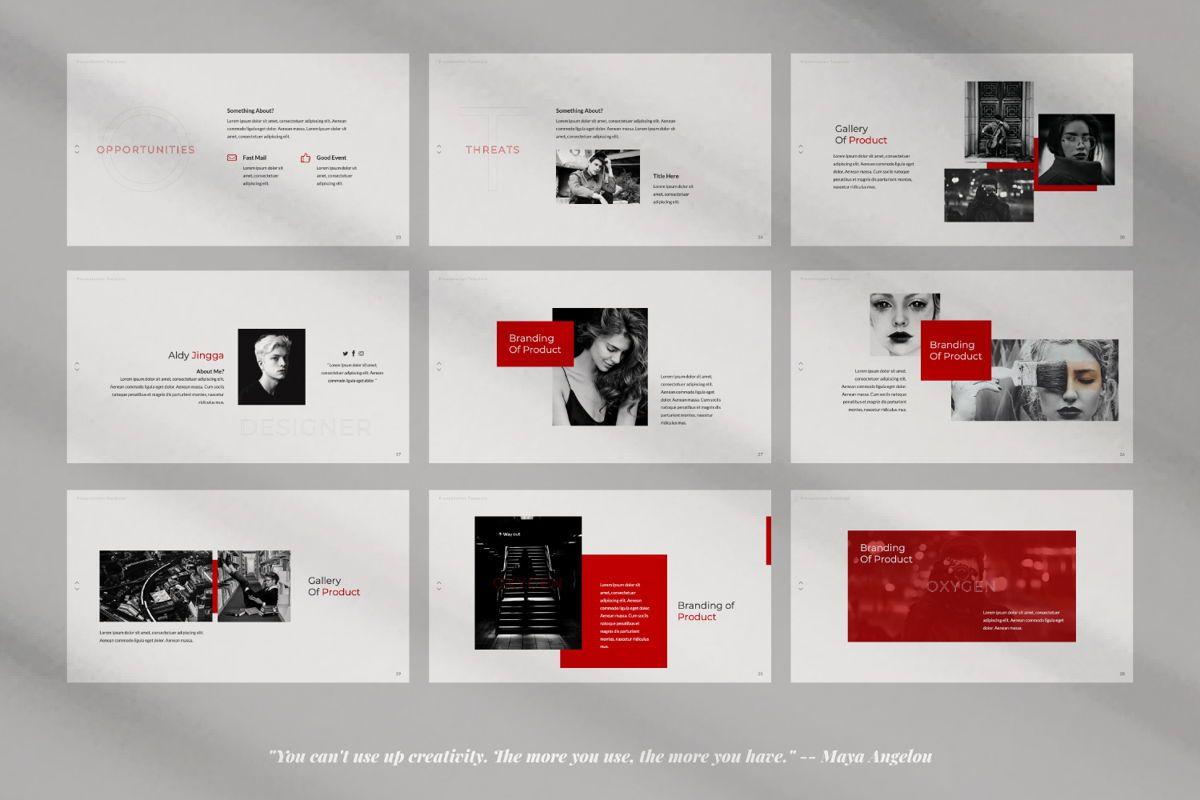 Oxygen Creative Google Slide, Slide 4, 06355, Presentation Templates — PoweredTemplate.com