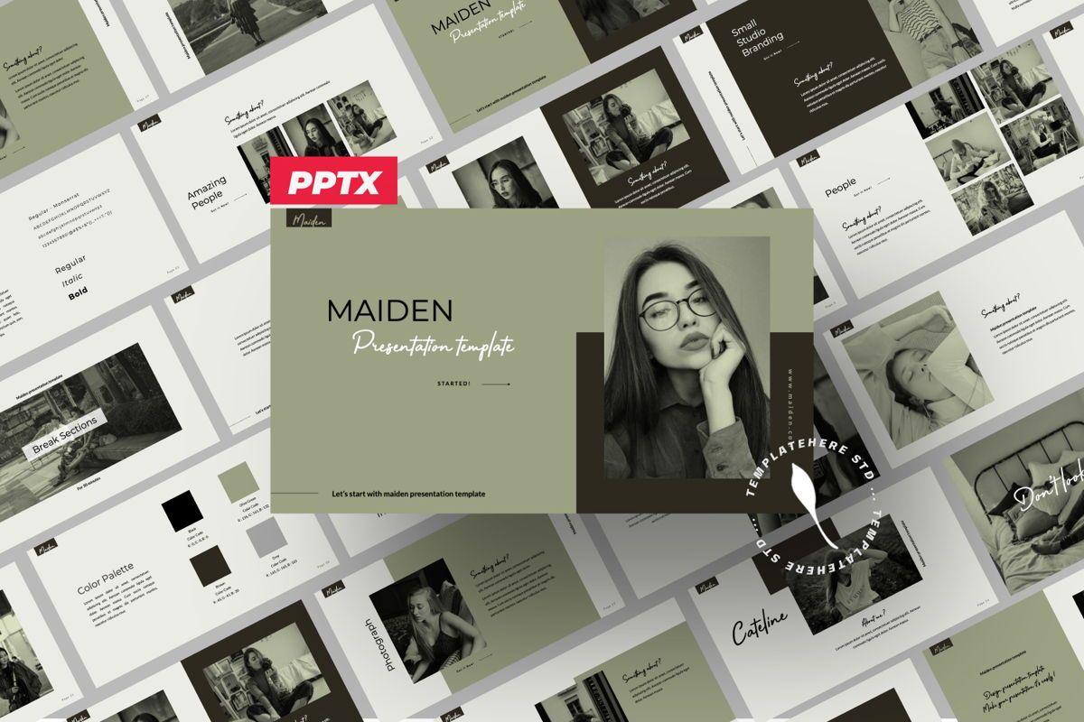 Maiden Creative Powerpoint, 06356, Presentation Templates — PoweredTemplate.com