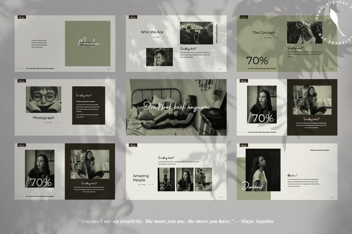 Maiden Creative Powerpoint, Slide 2, 06356, Presentation Templates — PoweredTemplate.com