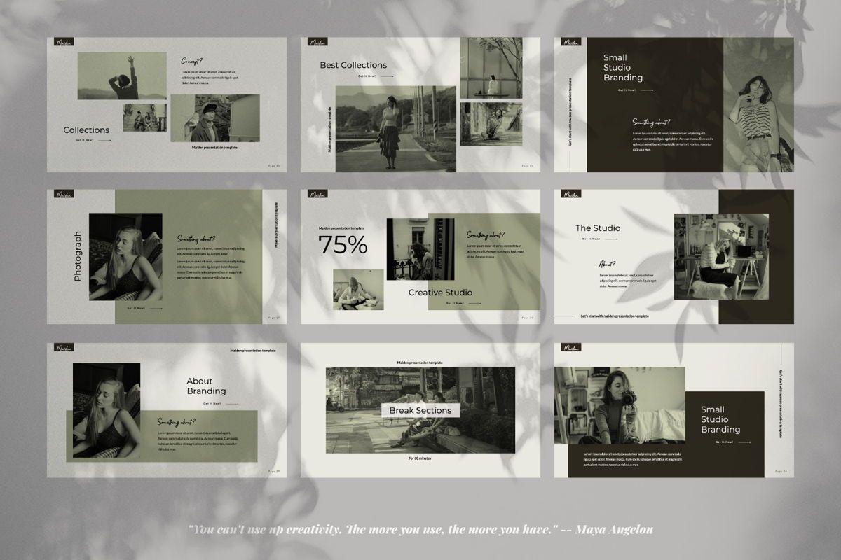 Maiden Creative Powerpoint, Slide 4, 06356, Presentation Templates — PoweredTemplate.com