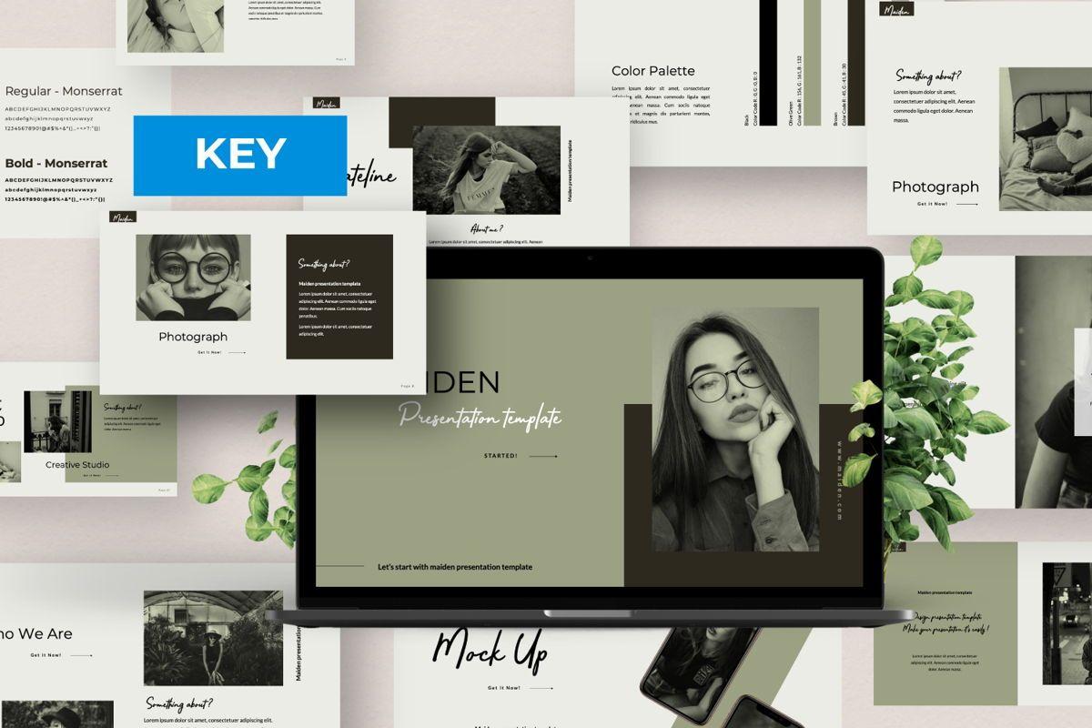 Maiden Creative Keynote, 06357, Presentation Templates — PoweredTemplate.com