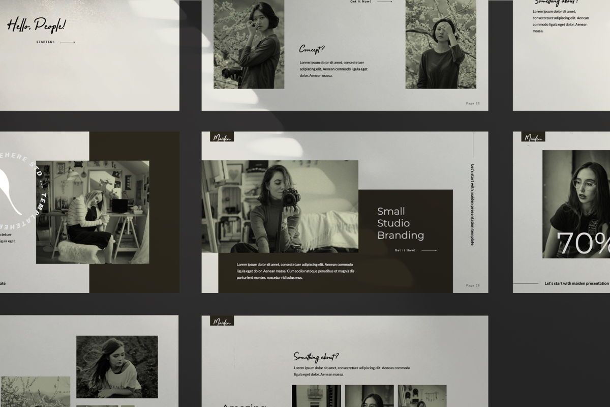 Maiden Creative Keynote, Slide 9, 06357, Presentation Templates — PoweredTemplate.com