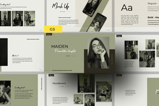 Presentation Templates: Maiden Creative Google Slide #06358