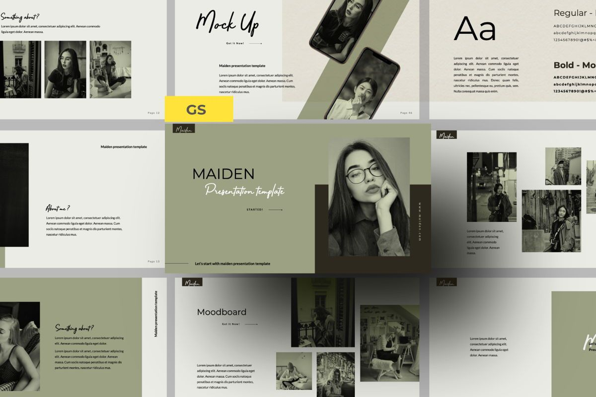 Maiden Creative Google Slide, 06358, Presentation Templates — PoweredTemplate.com