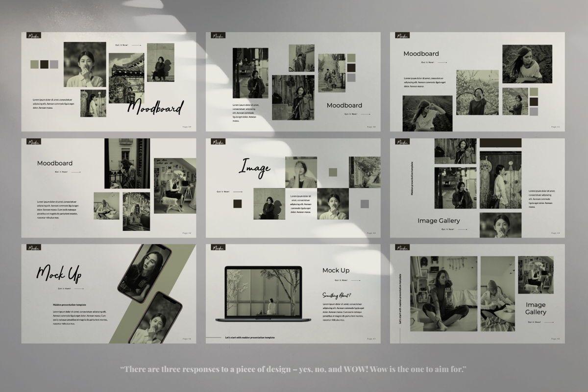 Maiden Creative Google Slide, Slide 5, 06358, Presentation Templates — PoweredTemplate.com