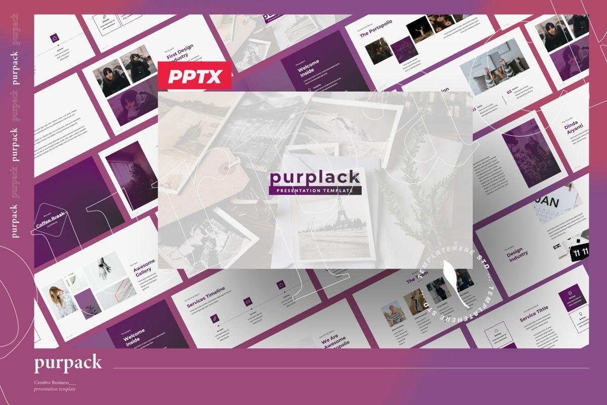 Purplack Creative Powerpoint, 06359, Presentation Templates — PoweredTemplate.com
