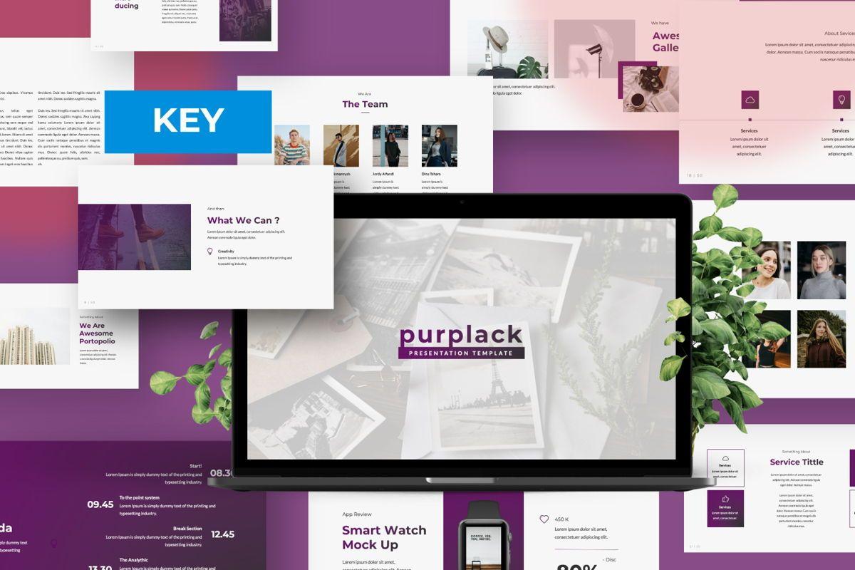 Purplack Creative Keynote, 06360, Presentation Templates — PoweredTemplate.com