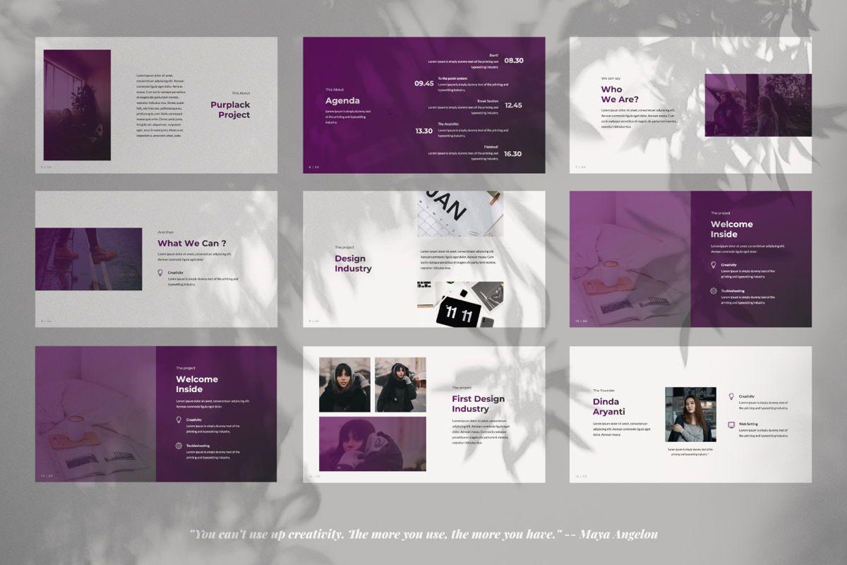 Purplack Creative Keynote, Slide 2, 06360, Presentation Templates — PoweredTemplate.com