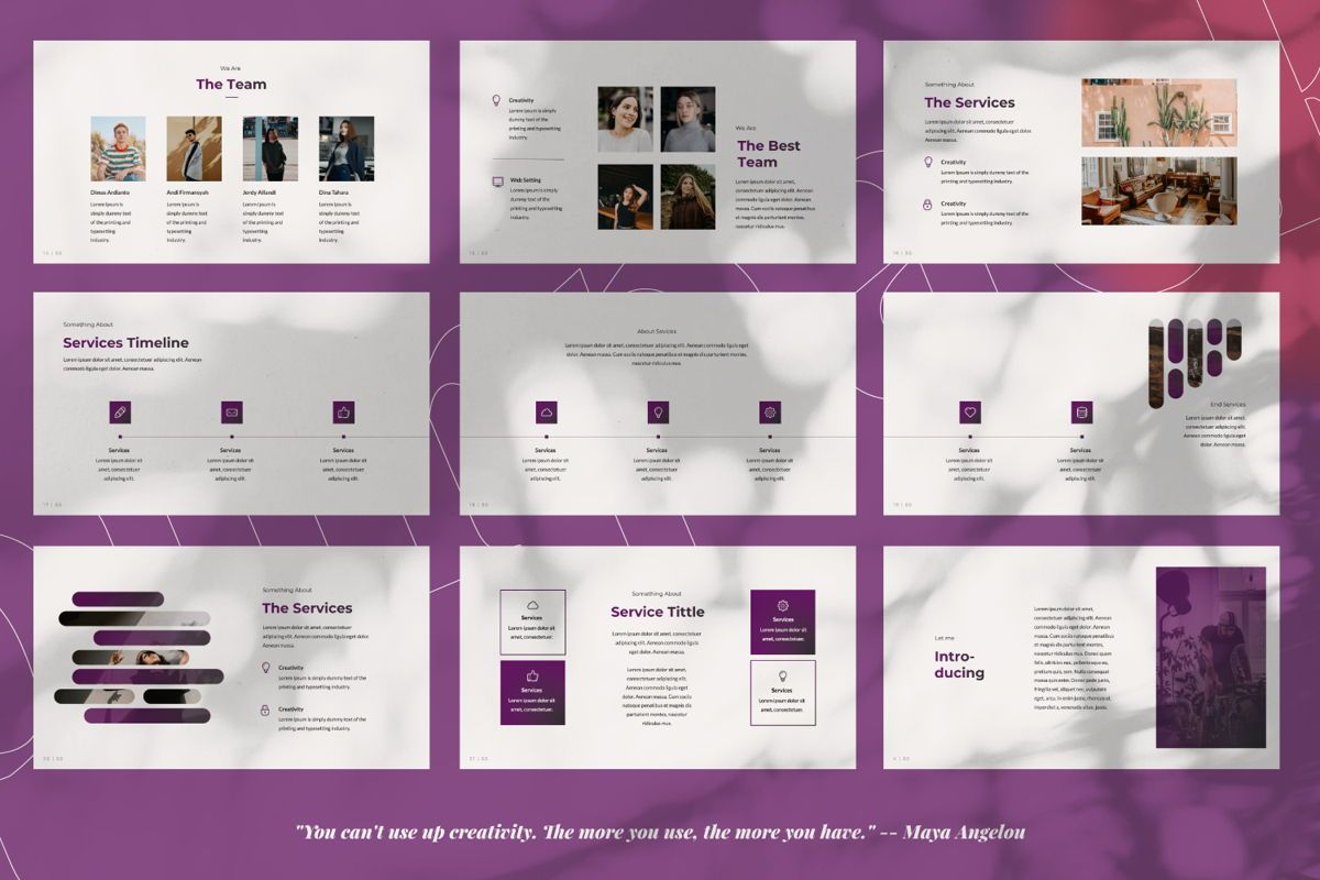Purplack Creative Keynote, Slide 3, 06360, Presentation Templates — PoweredTemplate.com