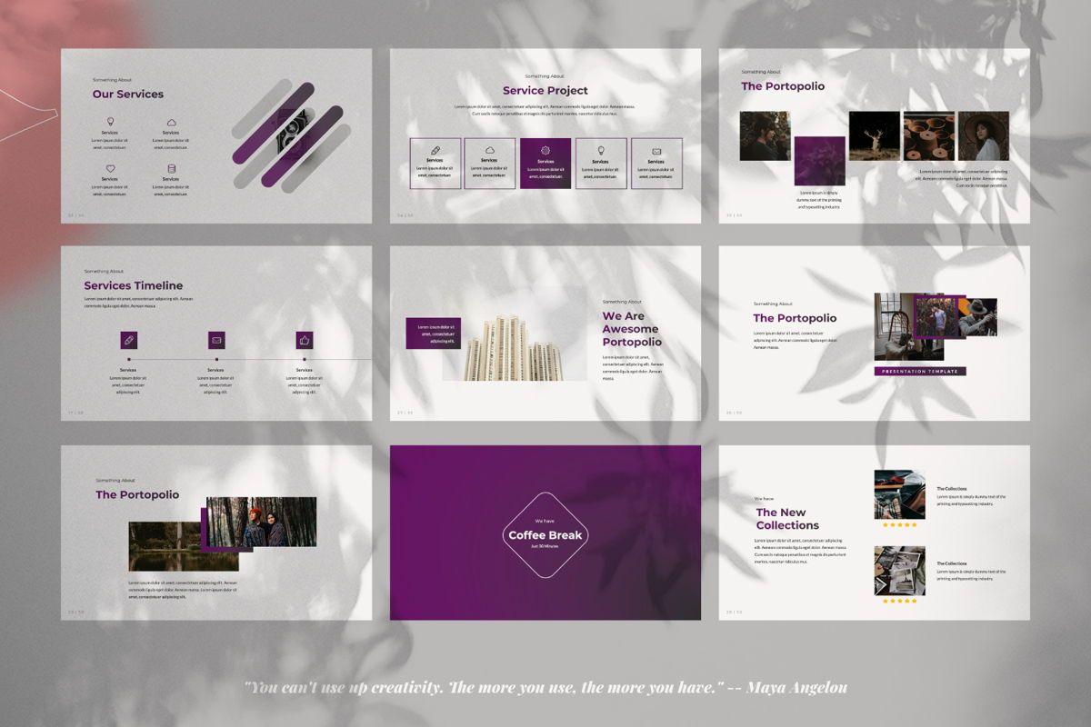 Purplack Creative Keynote, Slide 4, 06360, Presentation Templates — PoweredTemplate.com