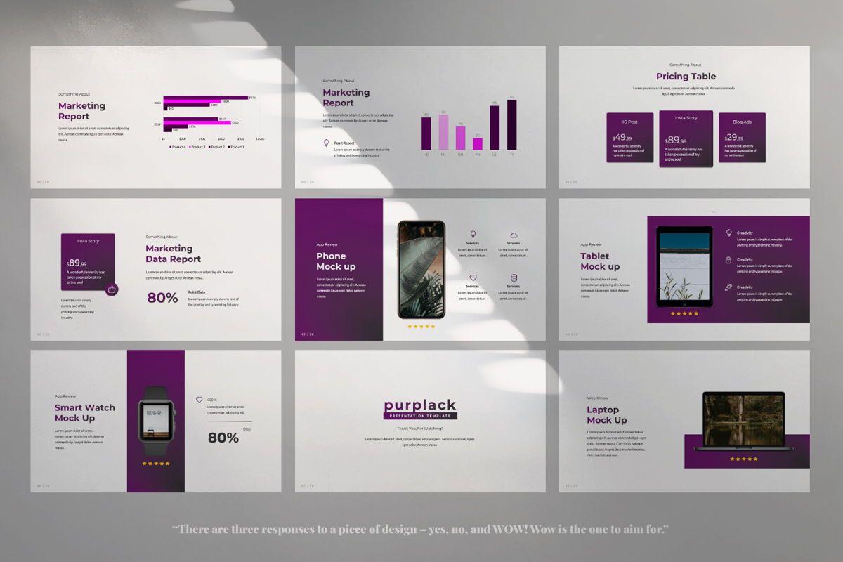 Purplack Creative Keynote, Slide 6, 06360, Presentation Templates — PoweredTemplate.com