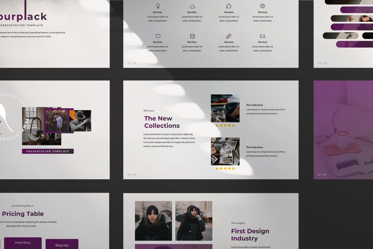 Purplack Creative Keynote, Slide 8, 06360, Presentation Templates — PoweredTemplate.com
