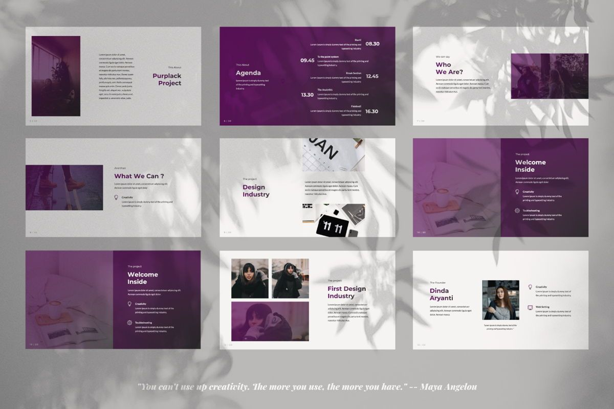 Purplack Creative Google Slide, Slide 2, 06361, Presentation Templates — PoweredTemplate.com
